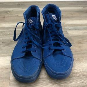 ad4661fe97 Vans Shoes - Vans solid blue high top shoes